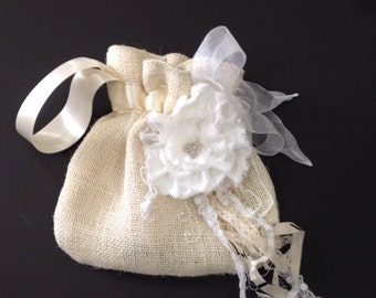 Dollar Dance BRIDAL BAG with cream or white embellishments