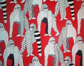 Alexander Henry cotton fabric-OBI-ape, gorilla, Africa-funky avant garde-1 yard