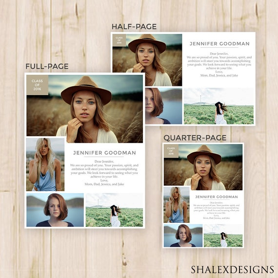 senior yearbook ads magazine style photoshop template psd. Black Bedroom Furniture Sets. Home Design Ideas