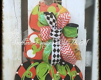 Stacked Pumpkins, door decor, door hanger