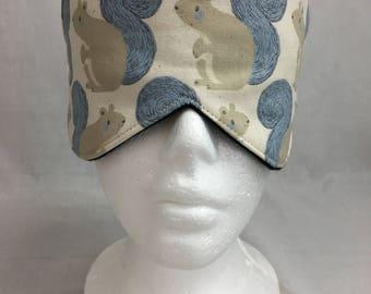 Squirrel Cotton Sleep Mask & Case Set, Eye Mask, Travel Mask, Sleeping Mask
