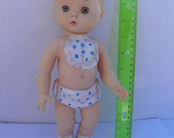 Vintage 1959 Edward Mobley Rubber Baby Squeak Toy , Arrow Rubber Baby Doll Squeeze Toy , Rubber Squeaker Toy , Rubber Doll , Squeaky Toy