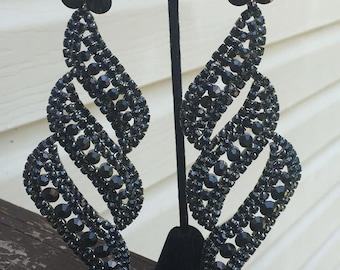 Large Chandelier Earrings | Long Chandelier Earrings | Huge Chandelier Earrings | Long Pageant Earrings | Statement Earrings
