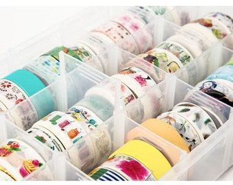 Washi tape storage box,Washi tape box,Diy storage box,Stationery