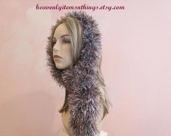 Yarn scarf,fur scarf,women's clothing Boho,Boho Clothing,Boho scarves,fringy scarves,skinny boho scarf,fur boa scarf