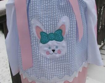 easter bunny pillowcase dress, 1st easter dress, 2nd easter dress, easter bunny dress, egg hunting dress