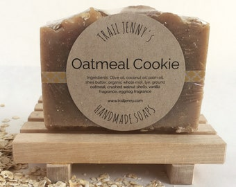 Oatmeal Cookie Handmade Soap with Whole Milk and Shea Butter - Cold-Process Soap - Natural Soap - Milk Soap - Oatmeal Soap - Shea Butter