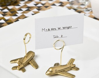 Airplane Travel Themed Wedding Place Card Holders (Pack of 10)  Wedding Reception Supplies