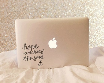 Hope Anchors The Soul, Laptop Stickers, Laptop Decal, Macbook Decal, Car Decal, Vinyl Decal