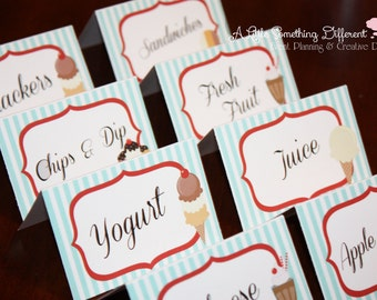 Ice Cream Parlor Collection:  Tent Cards