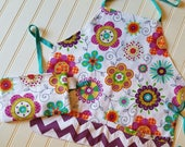 Kids-Aprons-Flowers-Chef-...