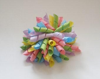 """Large 3 1/2"""" Korker Bow - Spring Pastel Solids"""