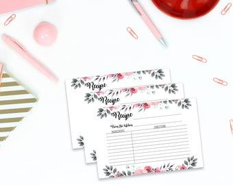 Bridal shower recipe card Print, Recipe card for Bridal shower party, 4x6 recipe card for Bridal party, Instant download recipe card,  1A
