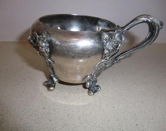 Vintage rare unique baraboure silver co. Quadruple 2327 Sugar Bowl silverplate