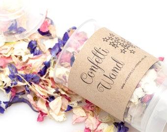 Non personalised Wedding Confetti Wands/popper (Biodegradable confetti)