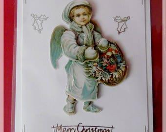 """little angel"" 3D Christmas card"