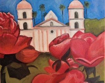 Mission Roses - Original Oil Painting