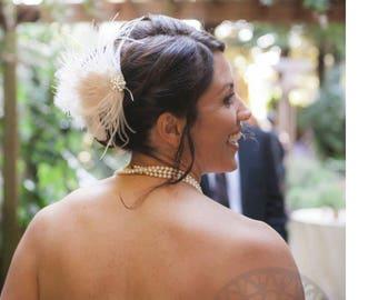 Flapper Style Headress, Wedding Headpiece,  Bridal Hair Accessories,  Wedding Hair piece,  Wedding Flapper Headpiece,  Bridal Headpiece