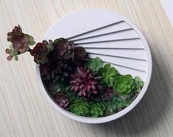 Concrete Architectural round Succulent Planter, Plant Pot, Flower Pot, Succulent pot, Cement planter, cement pot