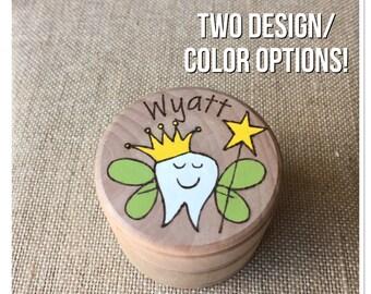 Tooth fairy box, tooth box, woodburning box,personalized wooden box, custom keepsake box, tooth fairy jar, loose tooth box
