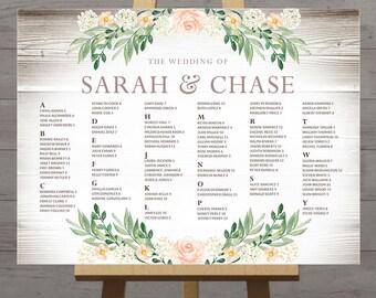 wedding table seating chart