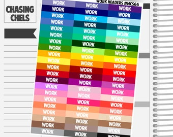 Work Headers #MCS66 Premium Matte Planner Stickers