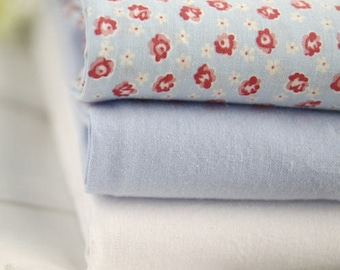 """Rosa Flower or Solid Cotton Fabric - 44"""" Wide - By the Yard 53127"""