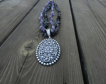 Western Flower with crystal