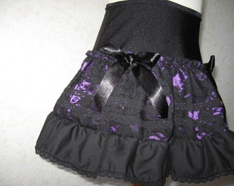 Sequoia NEW Black red purple green floral brocade lace skirt All sizes Biker Goth Party
