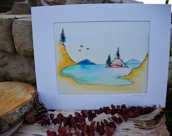 Teddy Bear Cove // Giclee Print on Fine Art Archival Paper // 8x10 matted to 11x14