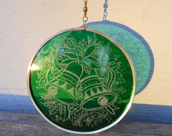 Green Stained Glass Ornament