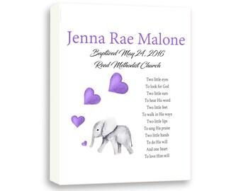 Baptism Gift For Baby Girl, Baby Dedication Gift, Christening Gift, Baby Elephant Gift From Godparents