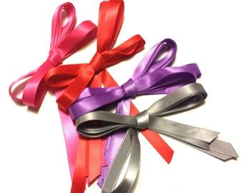 Thin Ribbon Shoelaces - CHOOSE YOUR COLOR -  Shiny Cute Greatness - 3/8 Inch Wide - Available In Kid's, Tennis, Boot, & Thigh High Length