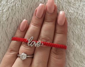 "Self-knotted bracelet ""Love"""