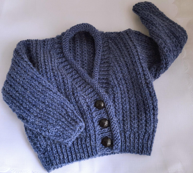 Baby Knitting Pattern Boys Sweater Set - Instant Download PDF ...