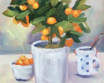 Orange Tree Painting • Oil Paintings • Original Art • Oil Painting • Daily Painter • Daily Painting • Mandarines