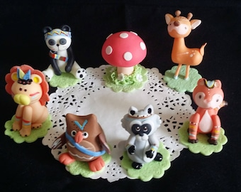 Forest Creatures, Forest Baby Shower, Woodland Decor, Girl Woodlland, Forest Animals, Woodland Animals, Woodland Cake Topper, Forest Friends