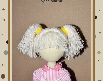 PDF,hairstyle for dolls, hair yarn, ,PDF Sewing Tutorial,soft doll hair,hairdo for doll