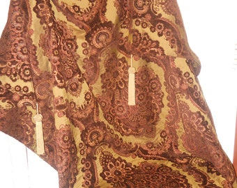 Decorative Throw, Plush Throw, Wall Tapestry Hanging, 52''x68'' Royal CustomThrow, Tassel Throw, Bed Coverlet, Regal Throw, Sofa/Chair Throw