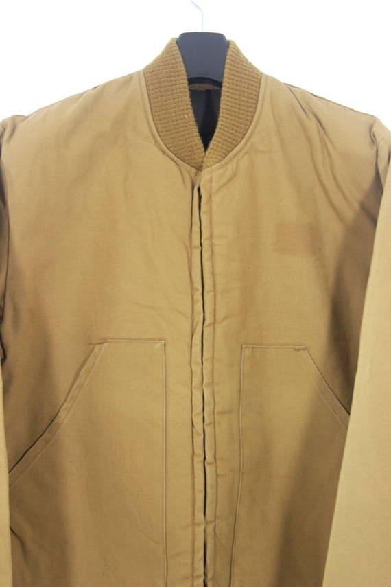 Vintage Cat Caterpillar Chore Jacket Quilted Lining Size Small/Medium / Chore Jacket / Work Jacket dveOj5FU9y