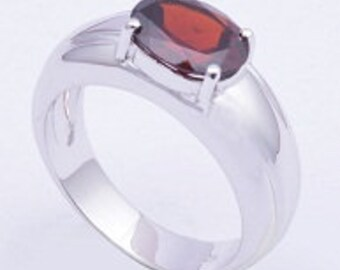 Garnet ring,925 sterling silver ring,Handmade ring,Gemstone ring,silver ring
