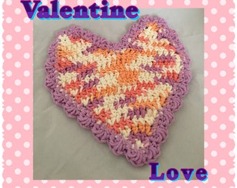 Valentine Love Dishcloth