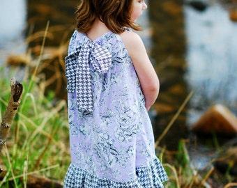 Girls pillowcase dress - girls dress - flower girl dress - beach dress - boho dress - bohemian dress - summer dress - purple  dress - Spring