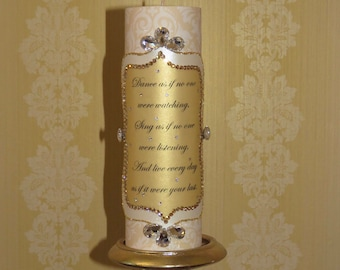 Decorative candle / Home Decor / Gifts / Gold Decor
