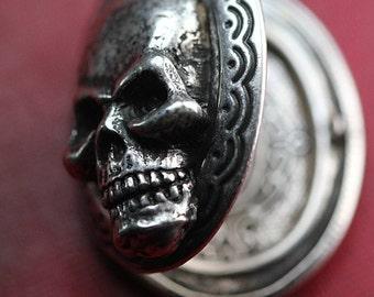 Skull Locket Necklace Mourning Locket original design jewelry built in NYC