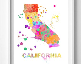 California print, painting,watercolor,  art print, sizes 5x7 or  8.5x12 inches,wall art,home decor,Pic no 35