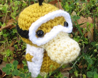 READY TO SHIP - Crochet - Chibi Pokemon Amigurumi - Science Psyduck. Nerd / Geek / Grad Gift. Graduation. Scientist / Medical School Student