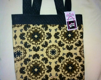 Black and Tan tote (large) - last one - clearance sale
