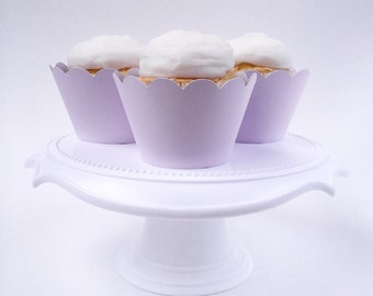 Set of 12 – Pastel Purple Cupcake Wrappers - Standard Sized - Ready To Ship