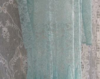 MERMAID AQUA LACE dress See Through Gown in Seafoam Green, On Sale